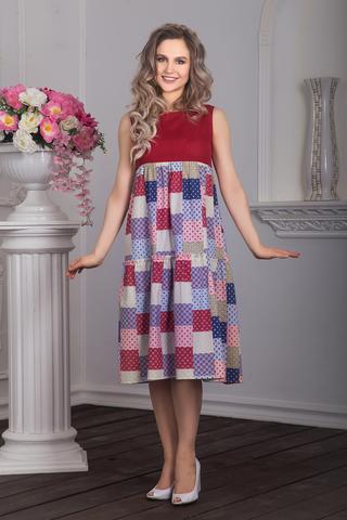 Платье Вишневый пэчворк