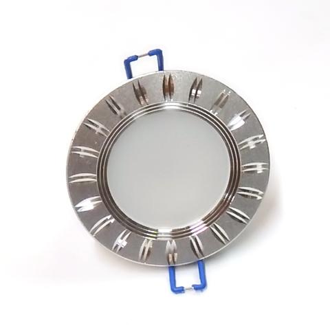 Светодиодный Led светильник встраиваемый Feron AL 779 Серебро (круглый) 5W 4000K