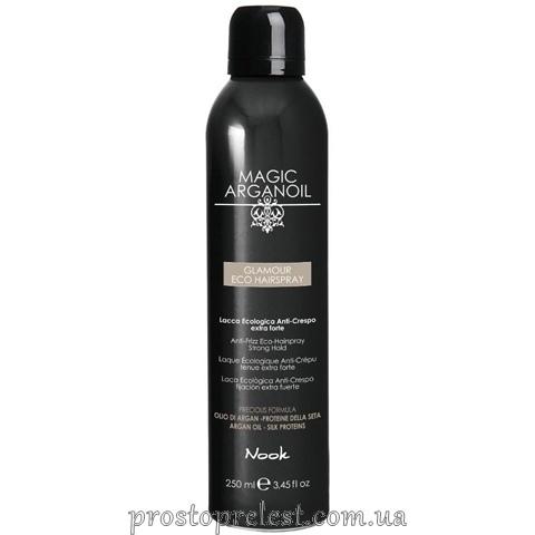 Nook Magic Arganoil Glamour ECO Hairspray — ЕКО-лак з антистатичним ефектом сильної фіксації