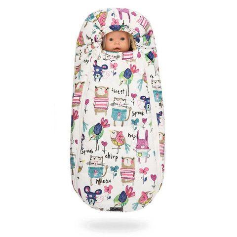 Зимний конверт для новорожденного на выписку и прогулку Baby XS Рисунки на Белом фоне