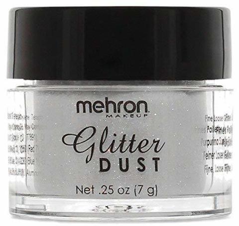 MEHRON Рассыпчатые блестки Glitter Dust, Opalescent White (Белый), 7 г