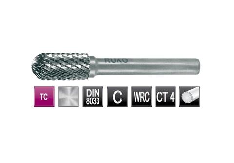 Бор-фреза твердосплавная C(WRC) 12,0х25x6x65мм HM Ruko 116023 (В)