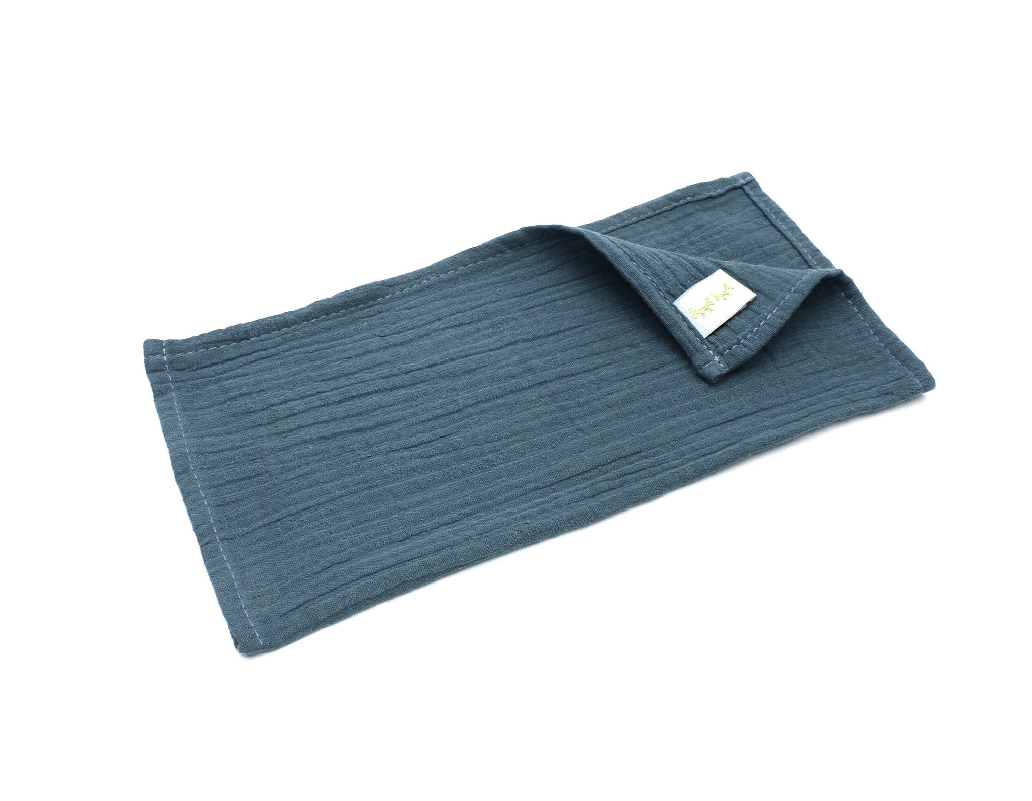Муслиновая салфетка-темно-синяя(27х27см)