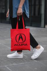 Мужская сумка-шоппер с принтом Акура (Acura) красная 002