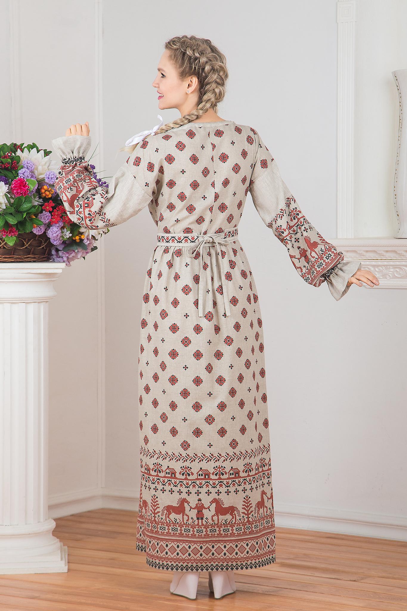 Платье Земледелие вид сзади