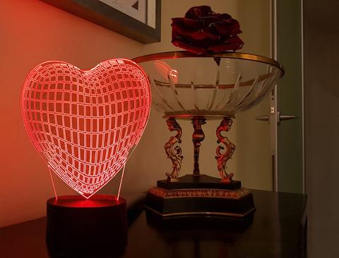 Светильник Граненое сердце