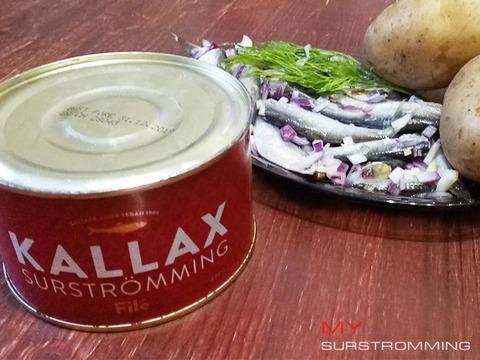 Сюрстремминг Kallax на блюде