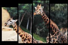 """Модульная картина """"Веселые жирафы"""""""