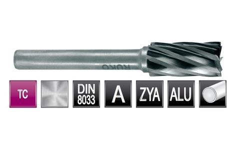 Бор-фреза твердосплавная B(ZYAS) 12,0х25х6х65мм HM ALU Ruko 116018A (В)