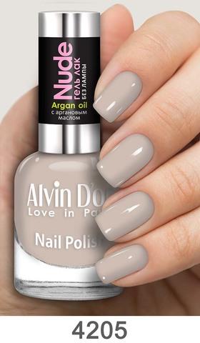 Alvin D`or Лак для ногтей Гель NUDE  тон 4205