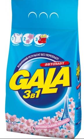 Стиральный порошок Gala 3 кг
