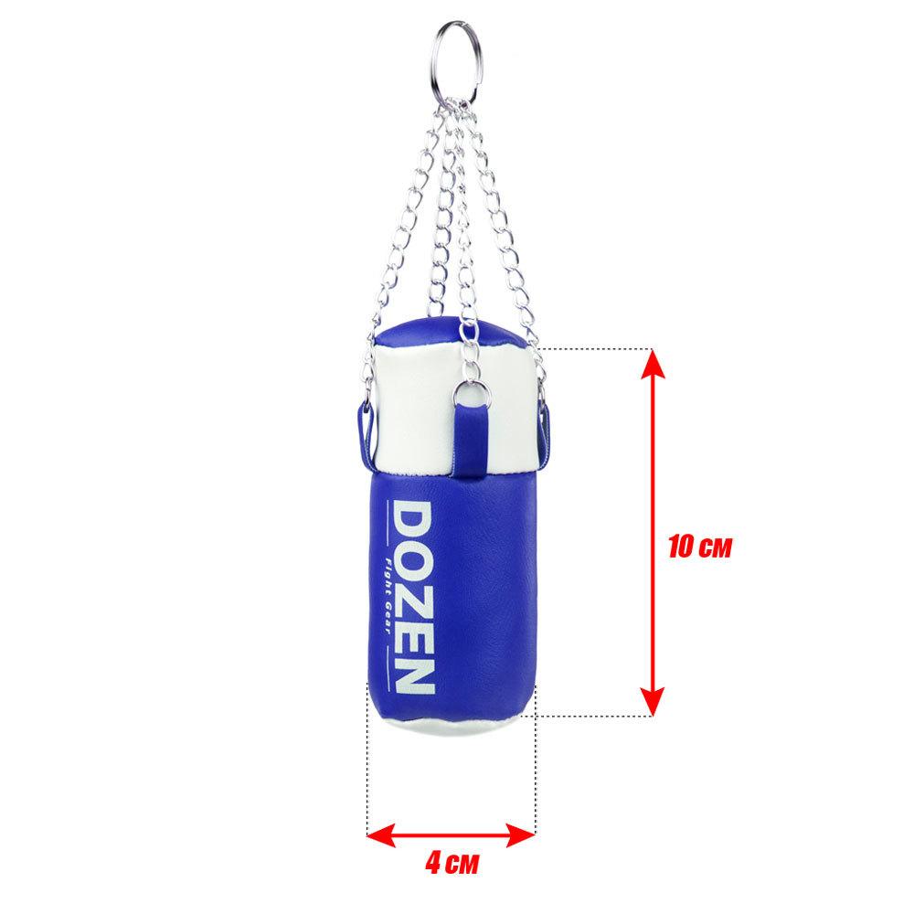 Брелок мини-мешок Dozen Light сине-белый размеры
