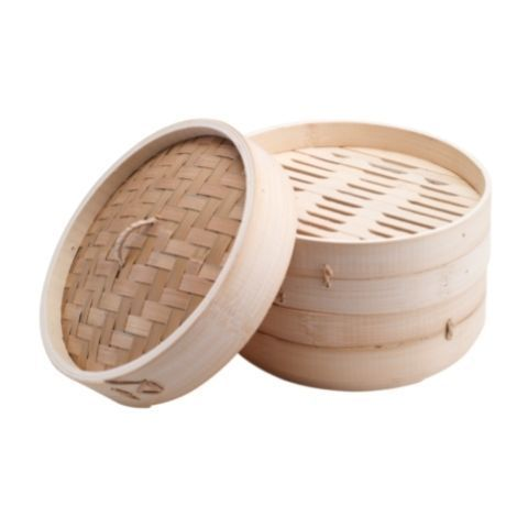 Бамбуковая пароварка для риса 2 уровня, 21 см