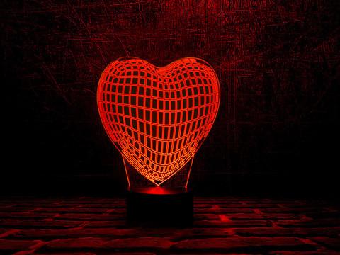 Лампа Граненое сердце