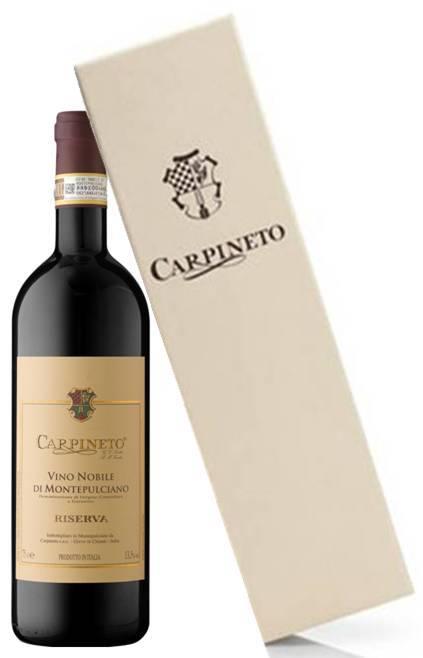 Carpineto Vino Nobile di Montepulciano Riserva  DOCG in wooden case