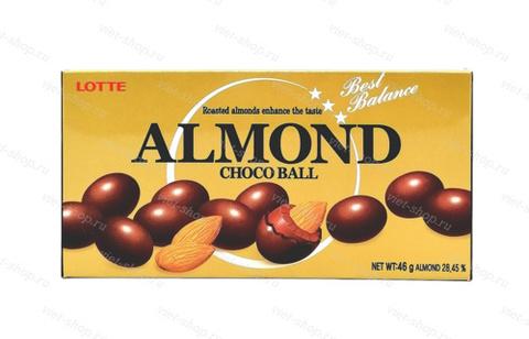 Миндаль в молочном шоколаде Almond Choco Ball, Корея, 46 гр.