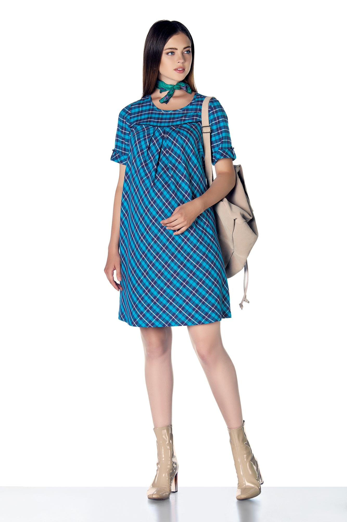 Платье для беременных 07861 синий