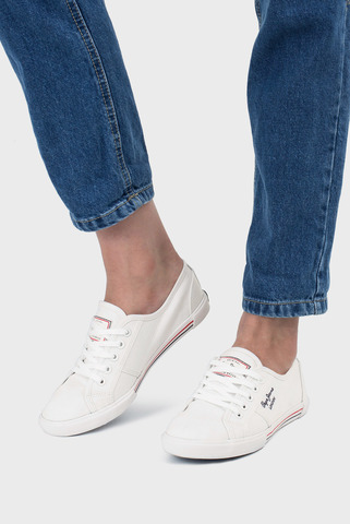 Белые кеды Pepe Jeans