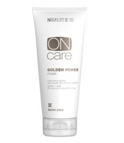 Золотистая маска для натуральных или окрашенных волос теплых светлых тонов ,Selective,200 мл.