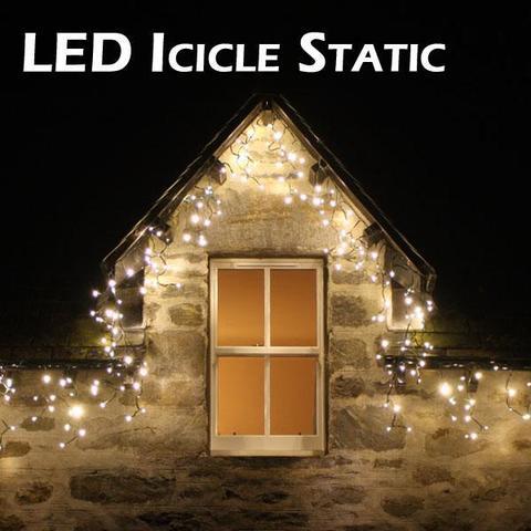 Бахрома уличная  5 м на 0,7 м теплый белый цвет пвх провод LED