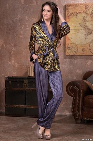Шелковая пижама-тройка Mia Amore Armani Gold (70% нат.шелк)
