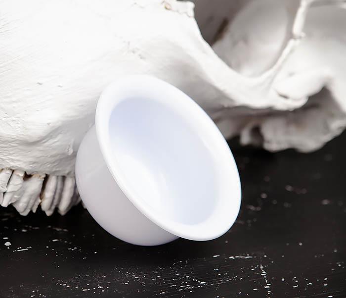 RAZ449 Пластиковая чаша для бритья белого цвета фото 04