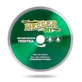 Алмазный диск MESSER-DIY диаметр 180 мм со сплошной режущей кромкой для резки керамической плитки