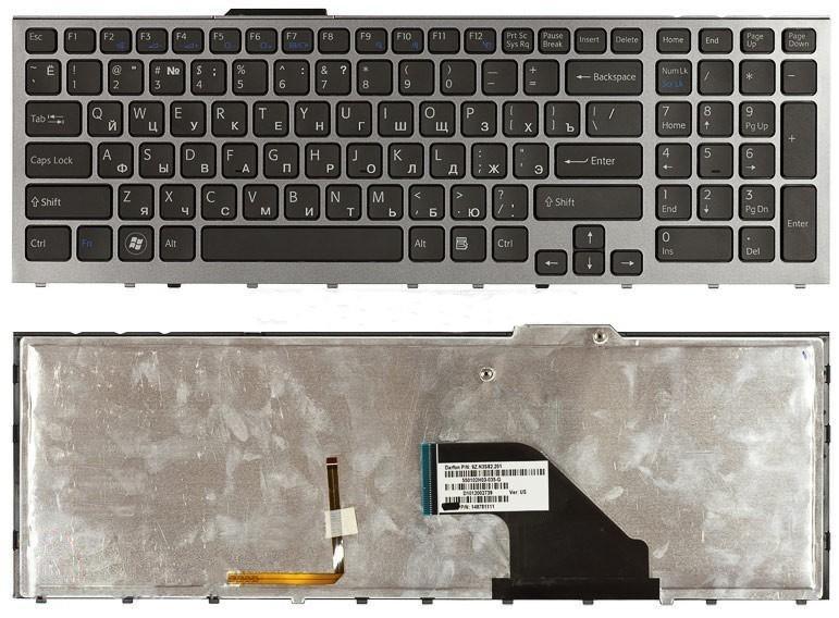 Клавиатура для ноутбука Sony Vaio VPC-F VPC-F11 VPC-F13E VPC-F13Z VPC-F13S VPC-F13R VPC-F11M1EH с подсветкой клавиш