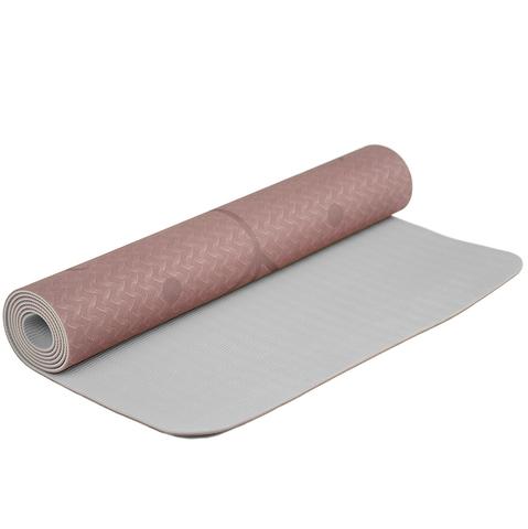 Коврик для йоги с разметкой Какао 183*61*0,5 см