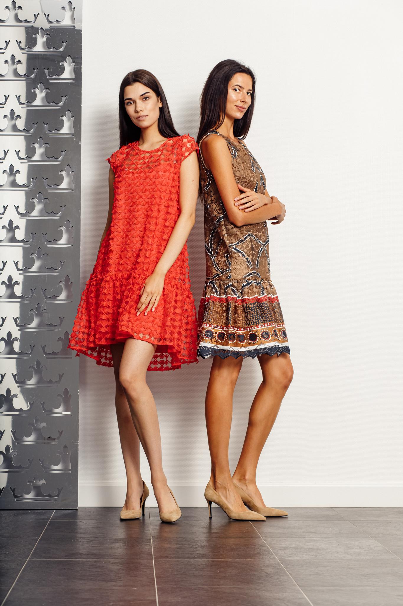 D.Exterior Платье с вышивкой и кисточками