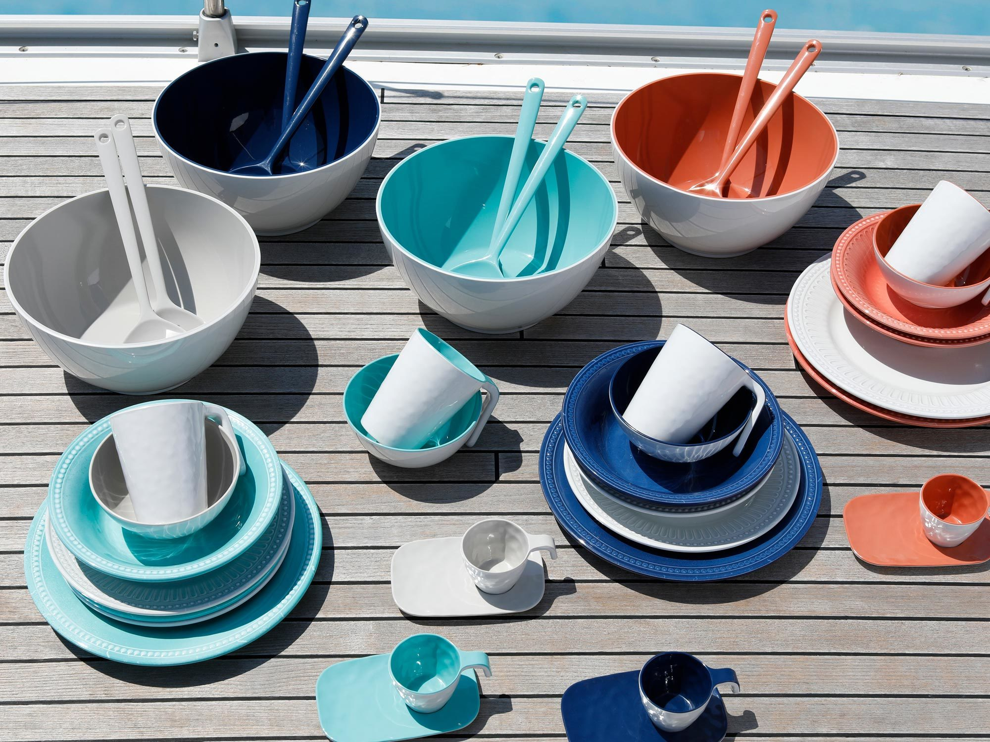 Melamine Coffee Set, Summer collection, colour Coral