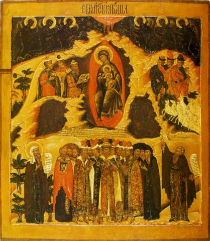 Икона Собор Божией Матери на дереве на левкасе мастерская Иконный Дом
