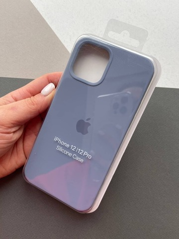 Чехол iPhone 12 (6,7) Silicone Case Full /lavender gray/