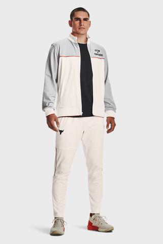 Мужские белые спортивные брюки UA PJT ROCK KNIT TRACK PANT Under Armour