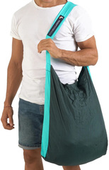 Сумка складная Ticket to the Moon Eco Bag Large (30л.) Dark Green/Turquoise
