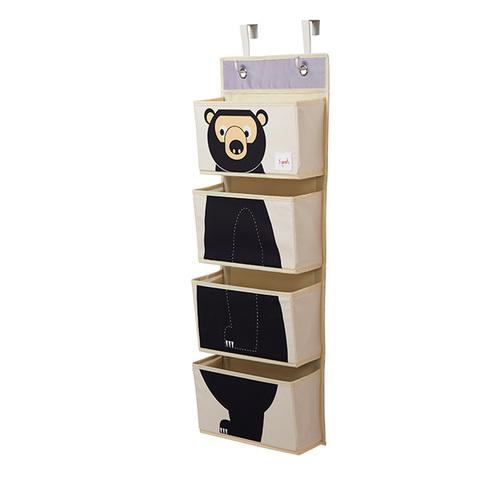 Органайзер на стену 3 Sprouts Медведь (чёрный)