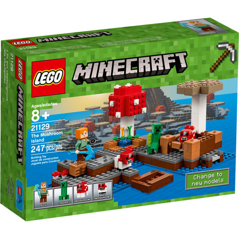 LEGO Minecraft: Грибной остров 21129 — The Mushroom Island — Лего Майнкрафт