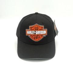 Кепка с вышитым логотипом Харлей дэвидсон (Кепка  Harley-Davidson) черная