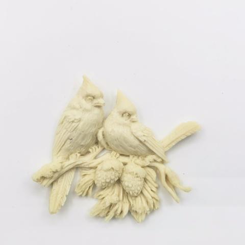 Отливка Зимние птички, 7х6см-808