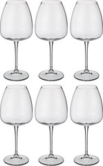Набор из 6 бокалов для вина с цветным дном «Арлекино», 550 мл, фото 4