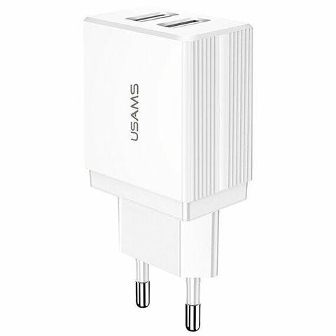 Сетевая зарядка Usams Travel 2.1A Dual USB /white/ CC090