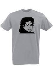 Футболка с принтом Майкл Джексон (Michael Jackson) серая 002