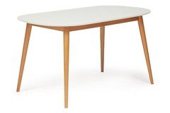 Стол обеденный Макс (Max), цвет: натур.бук/белый