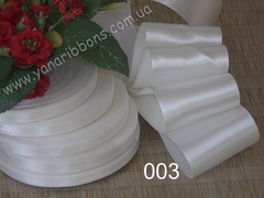 Лента атласная шириной 5см молочная - 003