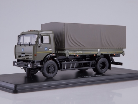 KAMAZ-43253 flatbed truck with awning dark-gray 1:43 Start Scale Models (SSM)