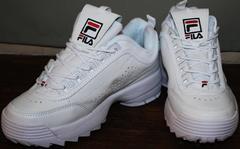 Кроссовки fila женские белые Fila Disruptor 2 all white RN-91175.