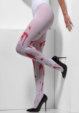 Оригинальные женские колготки с имитацией брызг крови