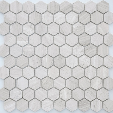 Мозаика Travertino silver MAT hex 18x30x6 285х305