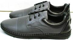 Летние туфли мужские мокасины с перфорацией Ridge Z-430 75-80Gray