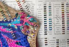 Закажите и купите карту палитру цветов клеевых страз в интернете недорого